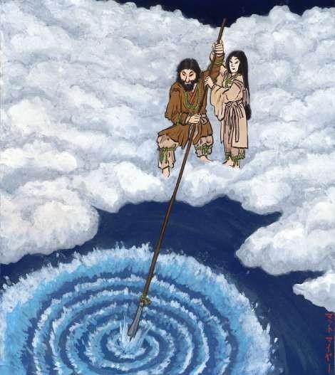 پیدایش ژاپن، ایزاناگی و ایزانامی