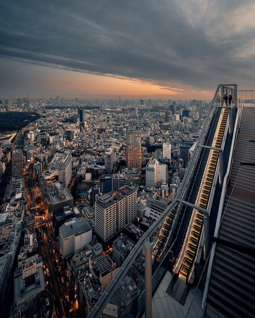 عکس از آسمان خراش شیبویا - shibuya sky