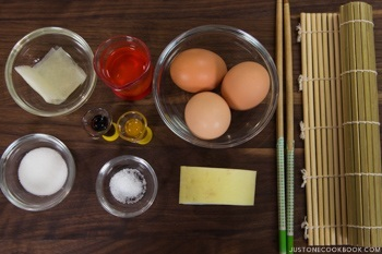Tamagoyaki Ingredients