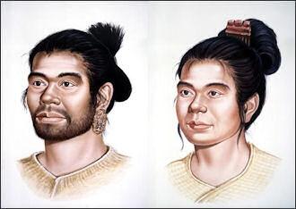 تصویری شبیه سازی شده از مردم دوره جومون