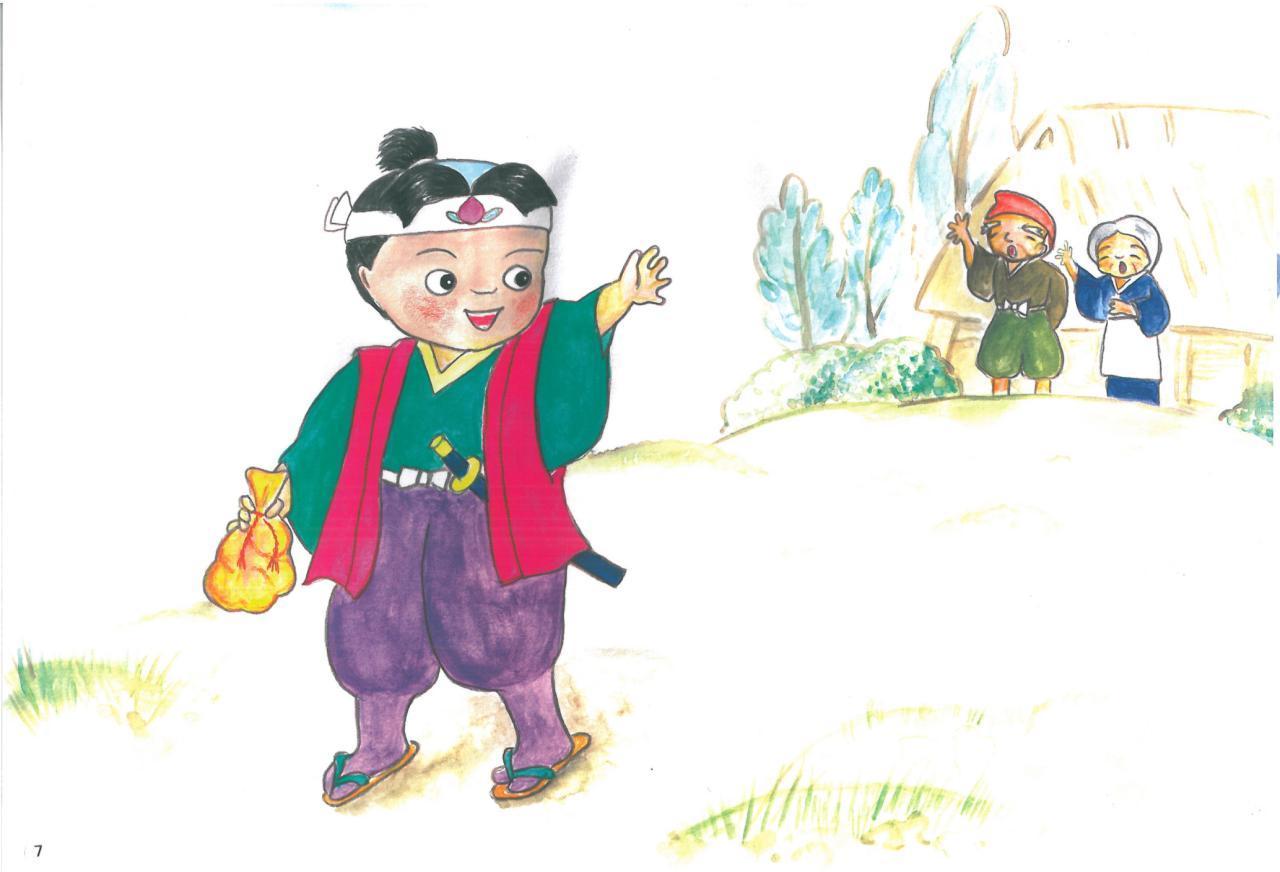 موموتارو ، داستان ژاپنی با زیرنویس ژاپنی و فارسی
